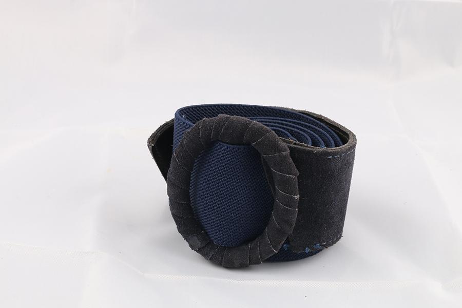 Ladies Navy Blue Black Belt Image