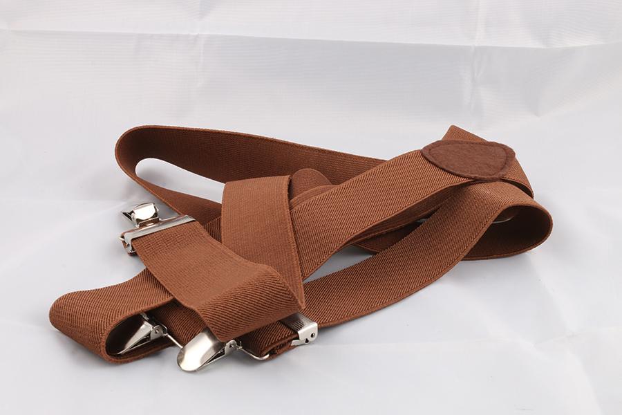 Unisex Brown Suspenders Image