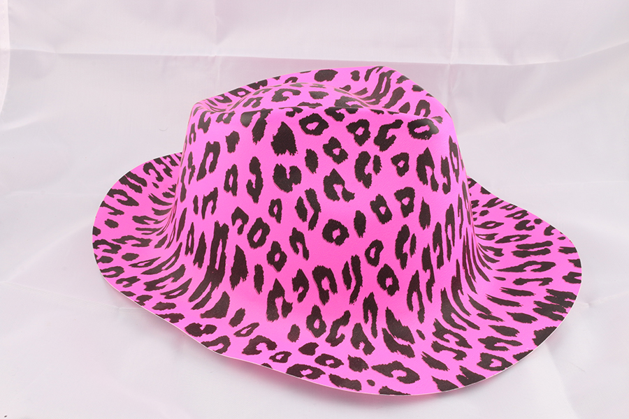 Pink Leopard Party Hat Image