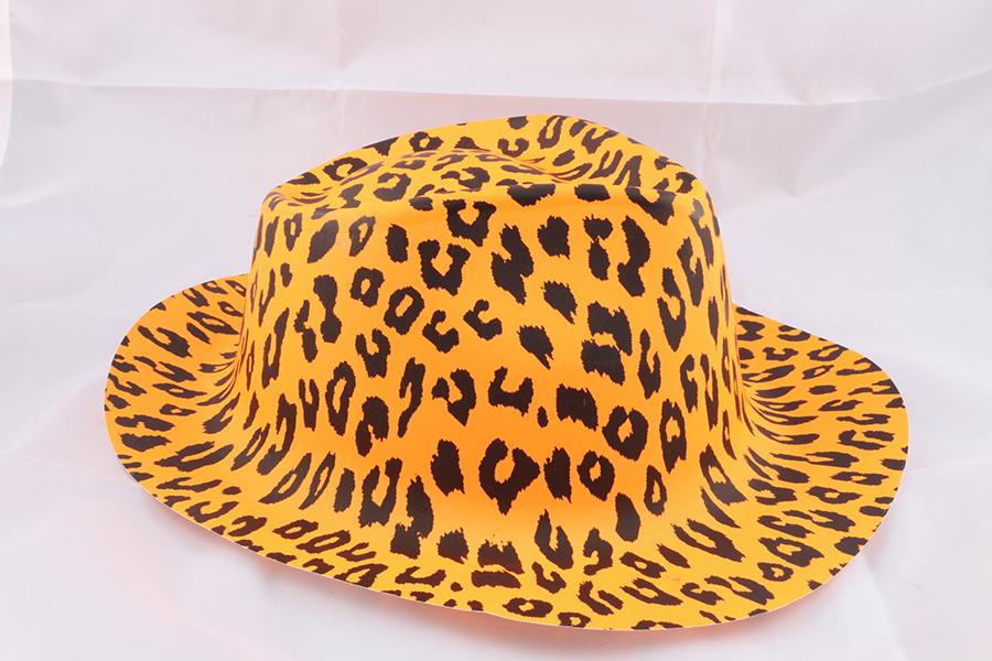 Orange Leopard Party Hat Image