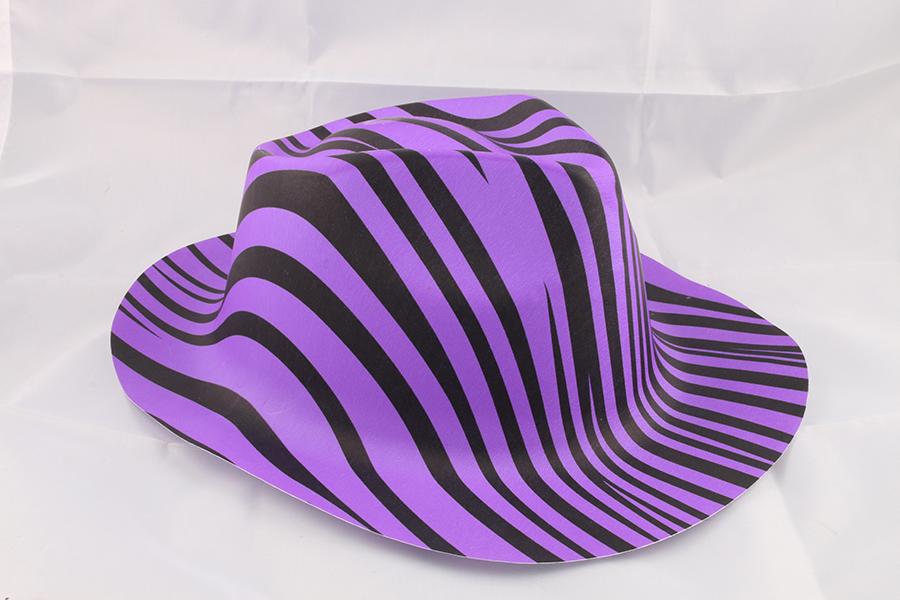 Purple Zebra Party Hat Image
