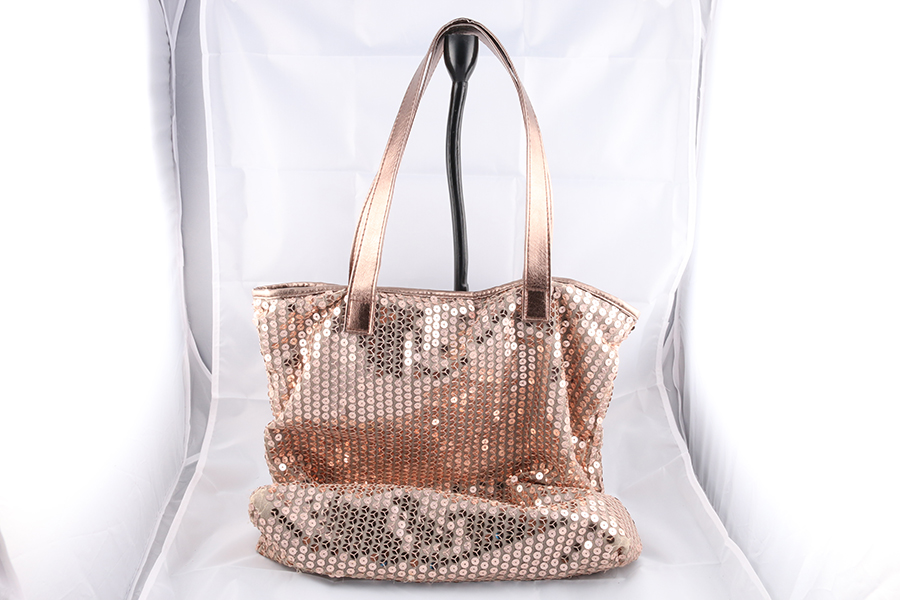 Gold Sequence Purse Image