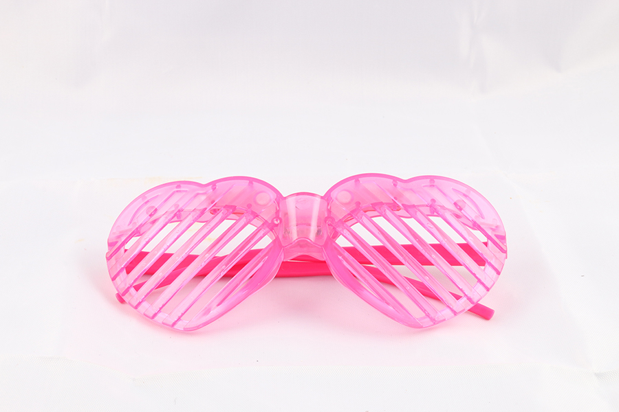 Pink Heart Party Glasses Image
