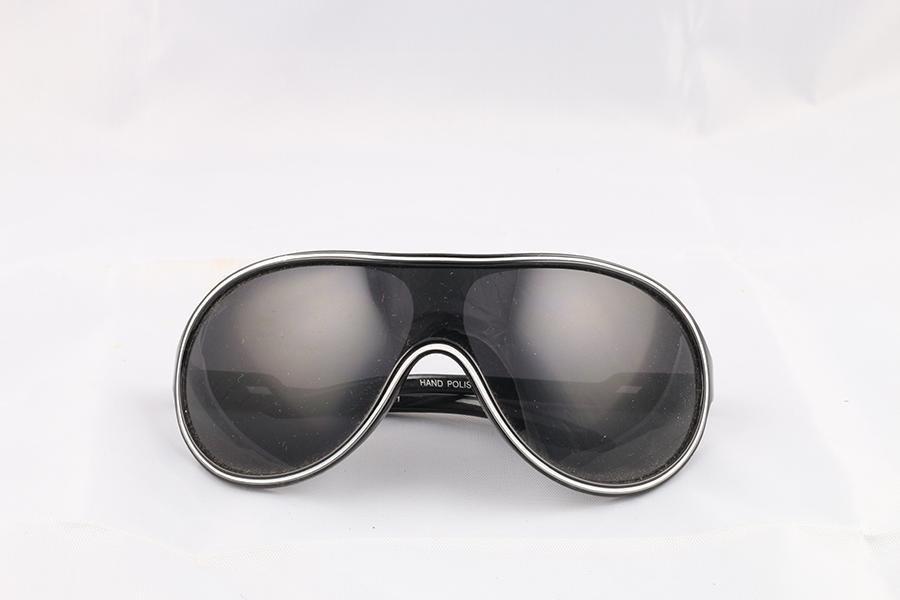 Black Frame Dark Lens Glasses Image