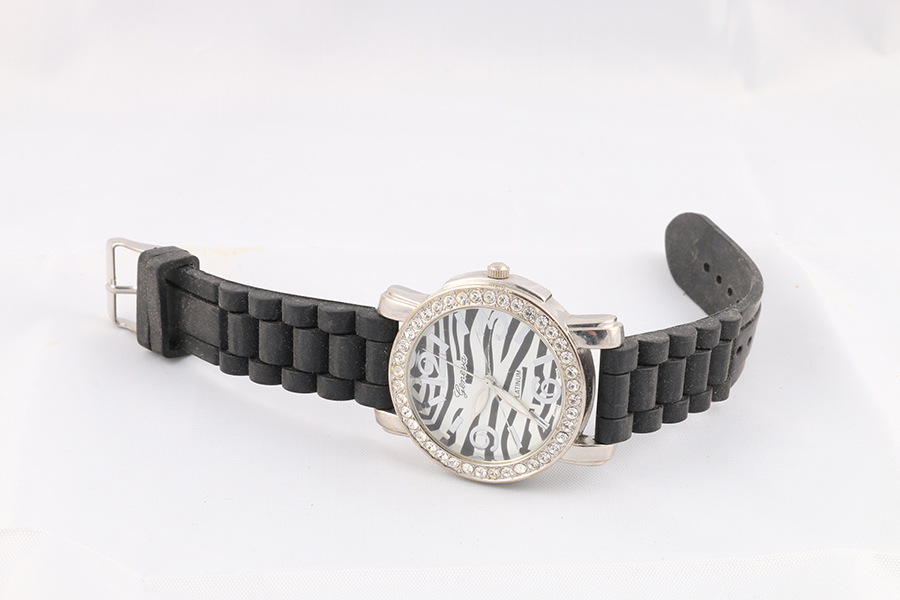 Black Band Zebra Faced Watch Image