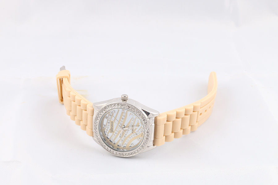 Cream Band Zebra Faced Watch Image