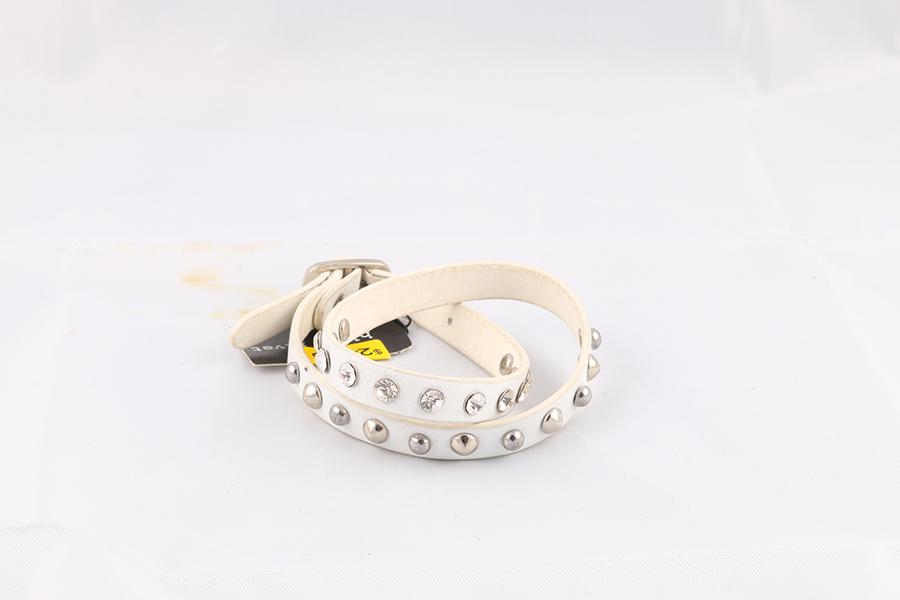 White Gemstone Studded Wrist Wrap Image