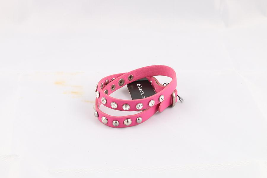 Pink Gemstone Studded Wrist Wrap Image