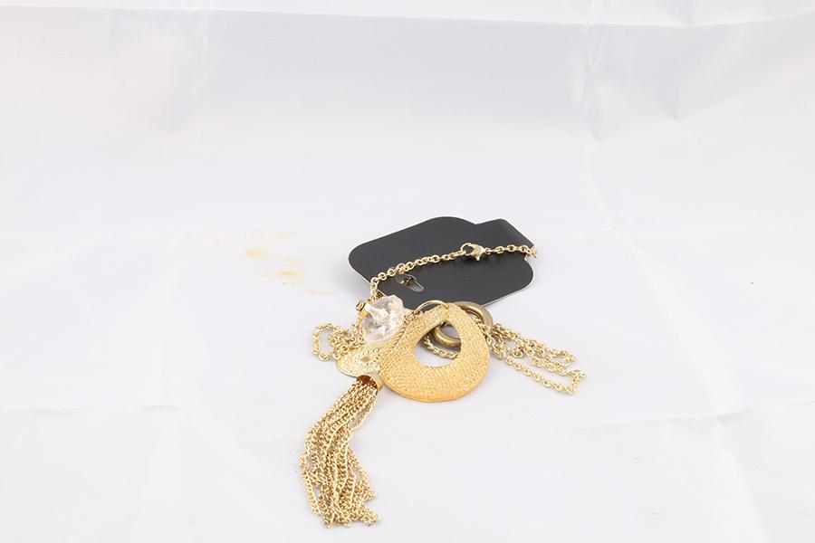 Gold Tassel Necklace Image