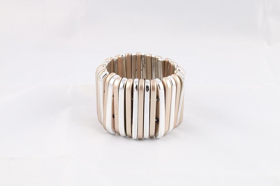 Silver Rose Gold Bracelet Image