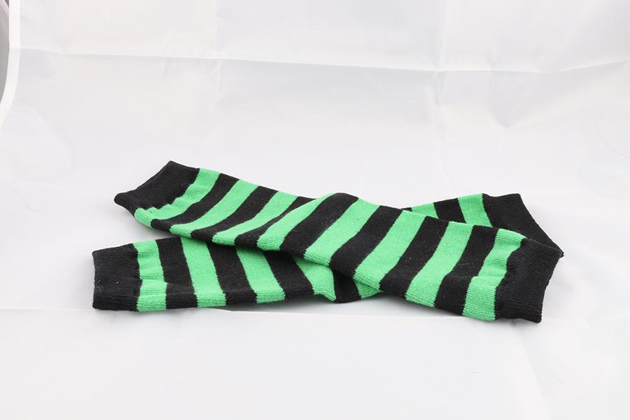 Green Black Striped Leg Warmers Image