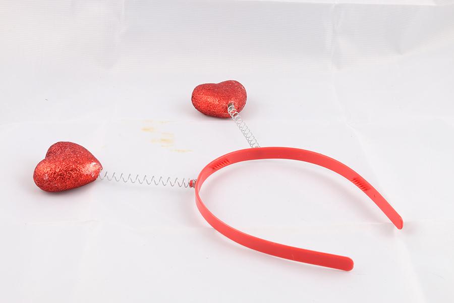 2 Hearts Headband Image