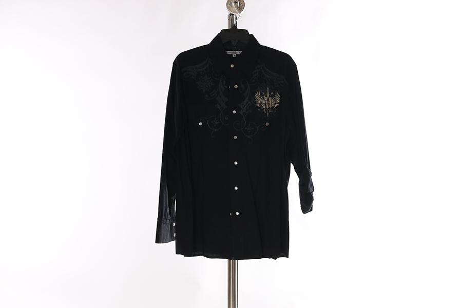 Black Printed Manchester Shirt Image