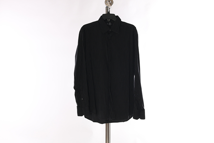 Black White Stripes INC Shirt Image