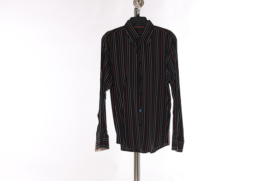 Black Orange Gray Stripes Contigo Shirt Image