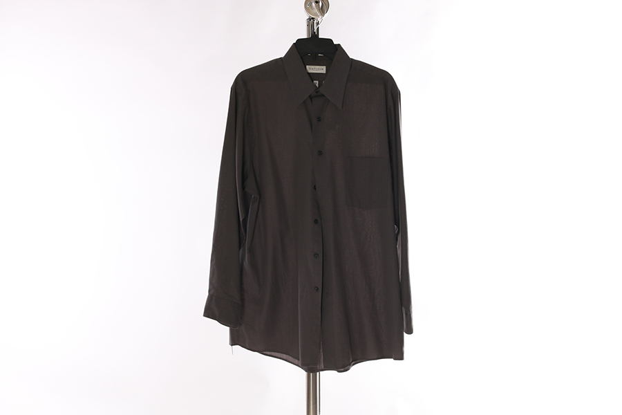 Gray Striped Van Heusen Shirt Image
