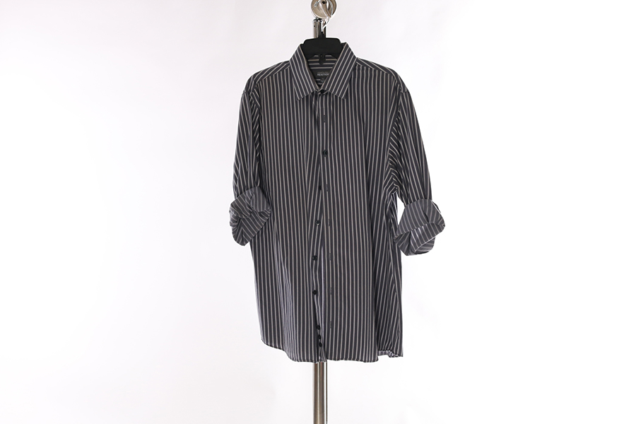 Gray Striped Kenneth Cole Shirt Image