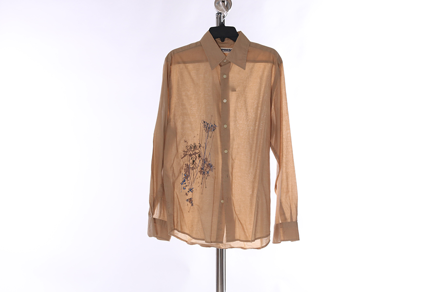 Light Tan Embroidered Express Shirt Image
