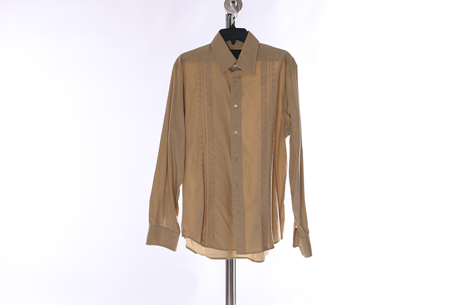 Light Tan Double Embroidered Express Shirt Image