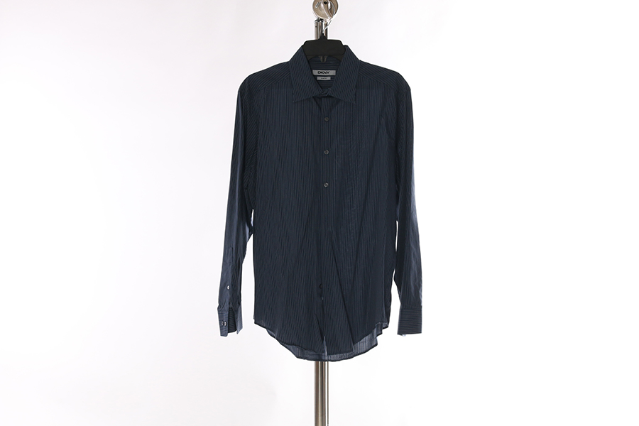 Blue Striped DKNY Shirt Image