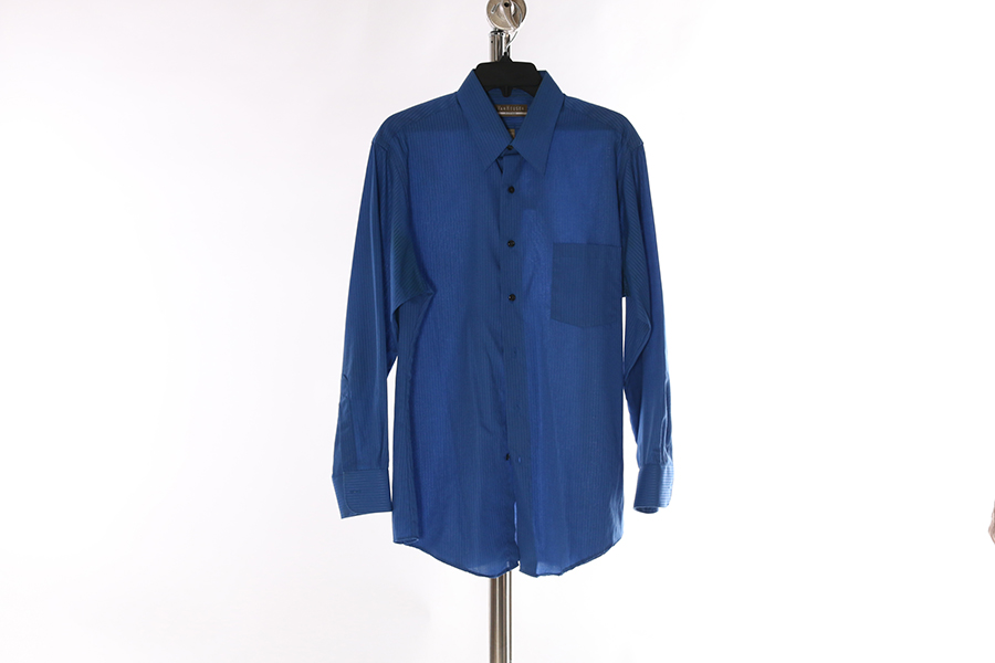 Blue Striped Van Heusen Shirt Image