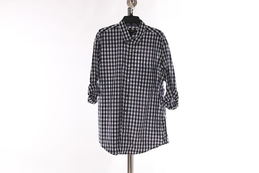 Blue White Checkered Club Room Shirt Image