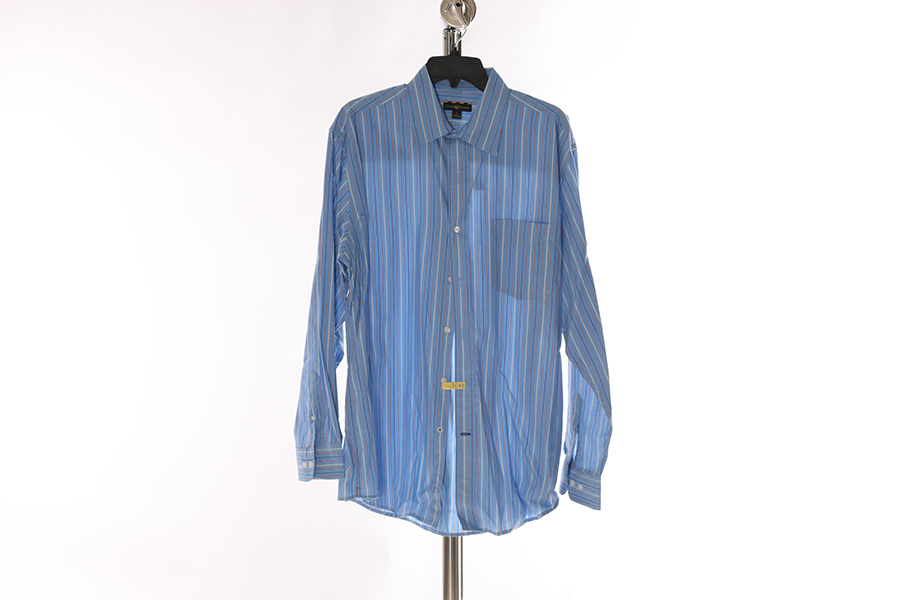Light Blue Striped Club Room Shirt Image