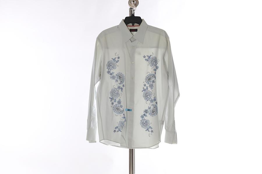Light Blue Embroidered Contigo Shirt Image