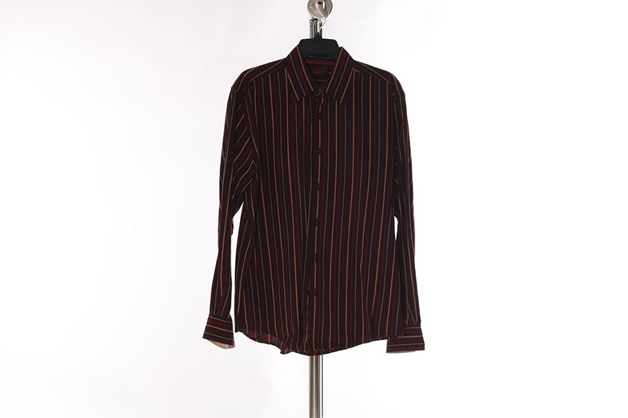 Burgundy Multi-Striped Contigo Shirt Image