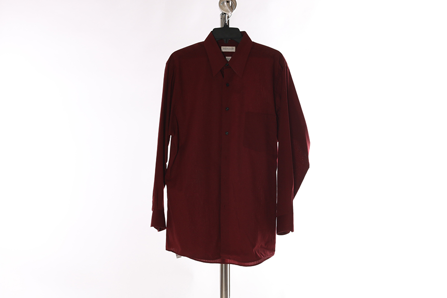 Burgundy Striped Van Heusen Shirt Image