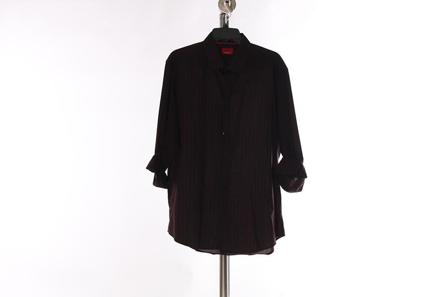 Burgundy Striped Alfani Shirt Image