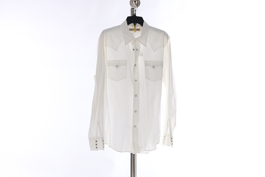 White 2 Pocket Express Shirt Image