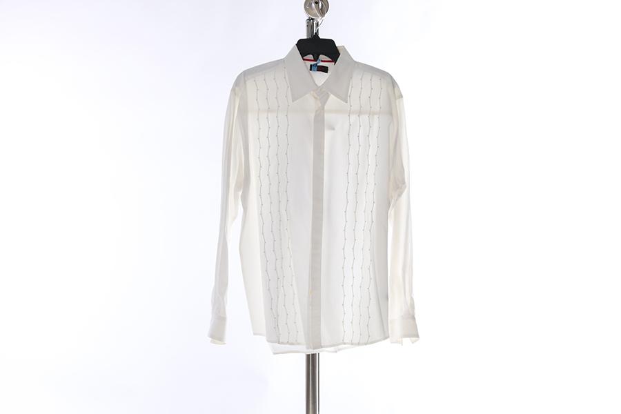 White Embroidered Contigo Shirt Image