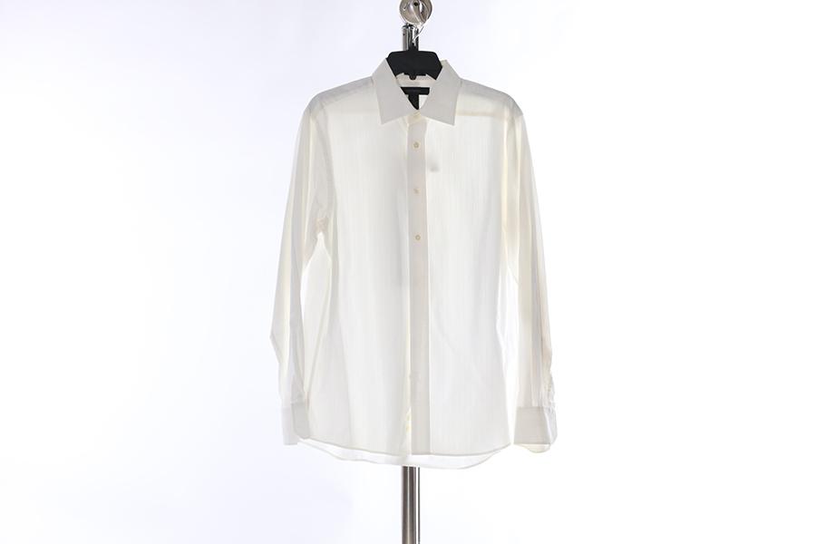 White Striped Express Shirt Image