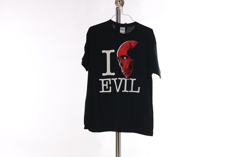 Black I Love Evil T-Shirt Image