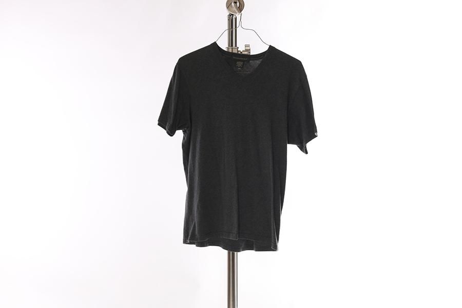 Gray V-Neck Banana Republic T-Shirt Image