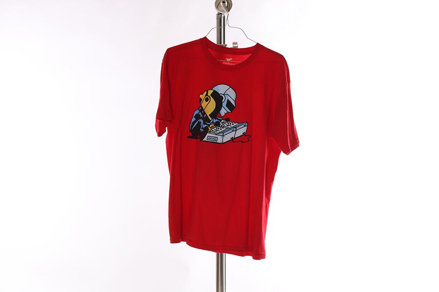 Red Daft Punk T-Shirt Image