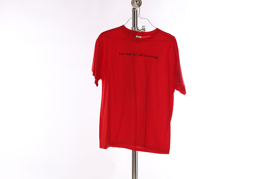 Red You had me at Annyong T-Shirt Image