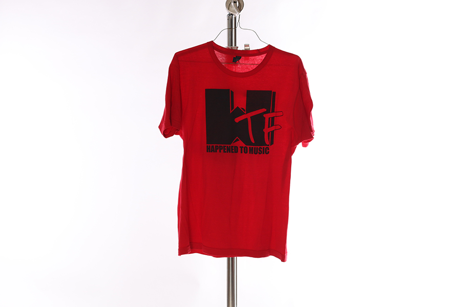 Red WTF Happened To Music T-Shirt Image