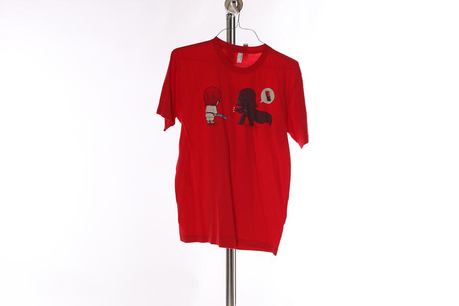 Red Little Darth T-Shirt Image