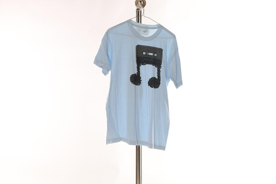 Light Blue Cassette Tape T-Shirt Image