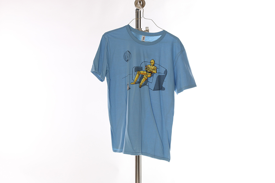 Light Blue C3PO Drone T-Shirt Image