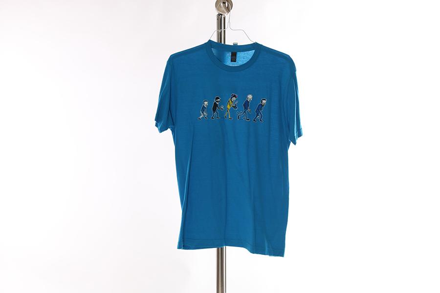 Light Blue Breaking Bad Evolution T-Shirt Image