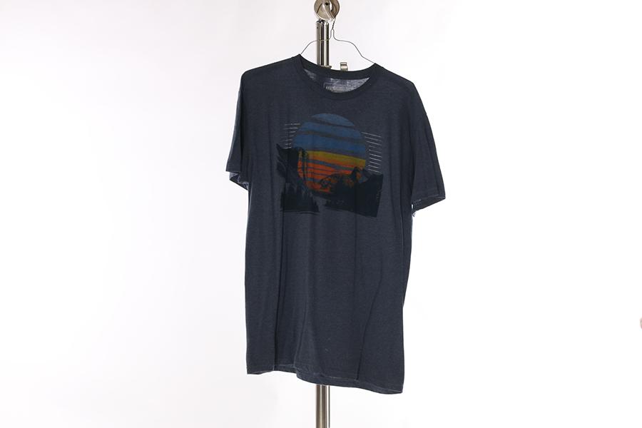 Blue Retro Sun T-Shirt Image