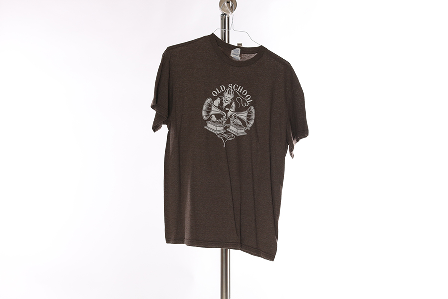 Brown Old School T-Shirt Image