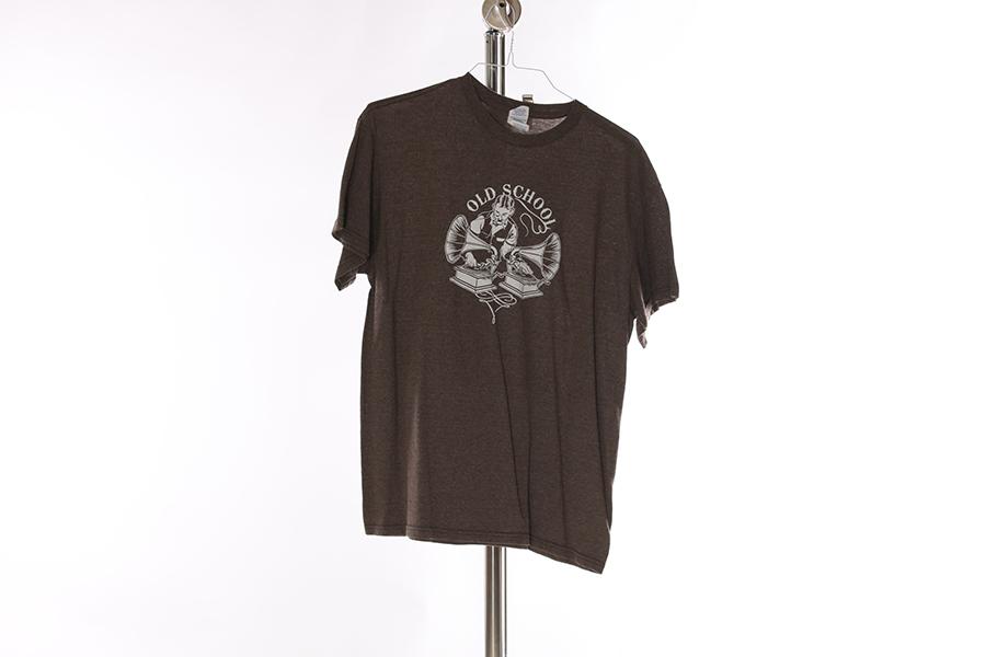 Brown Old School T-Shirt Image