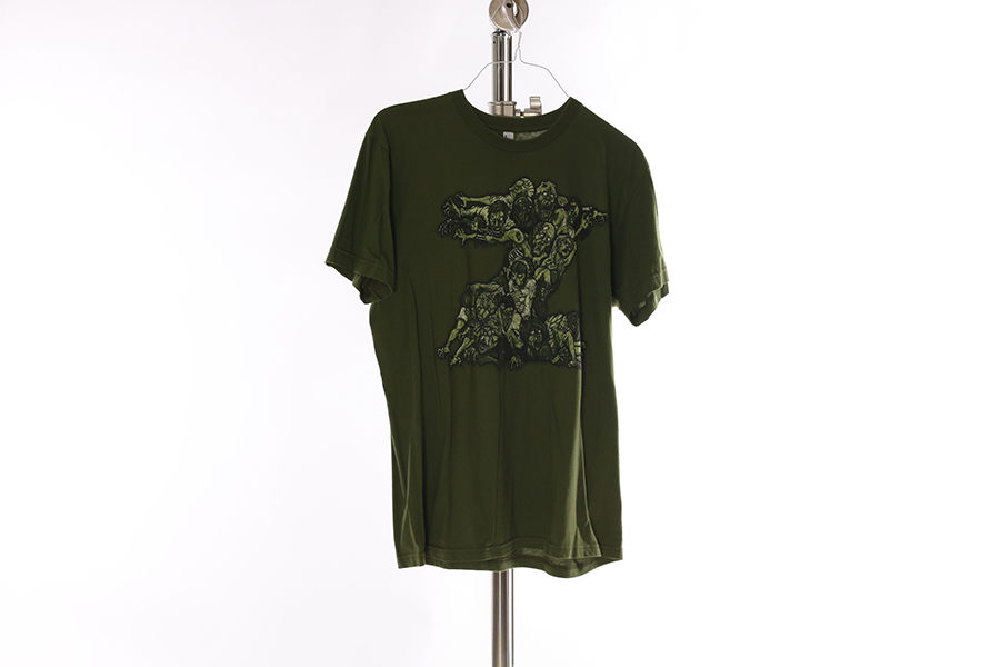 Olive Green World War Z T-Shirt Image
