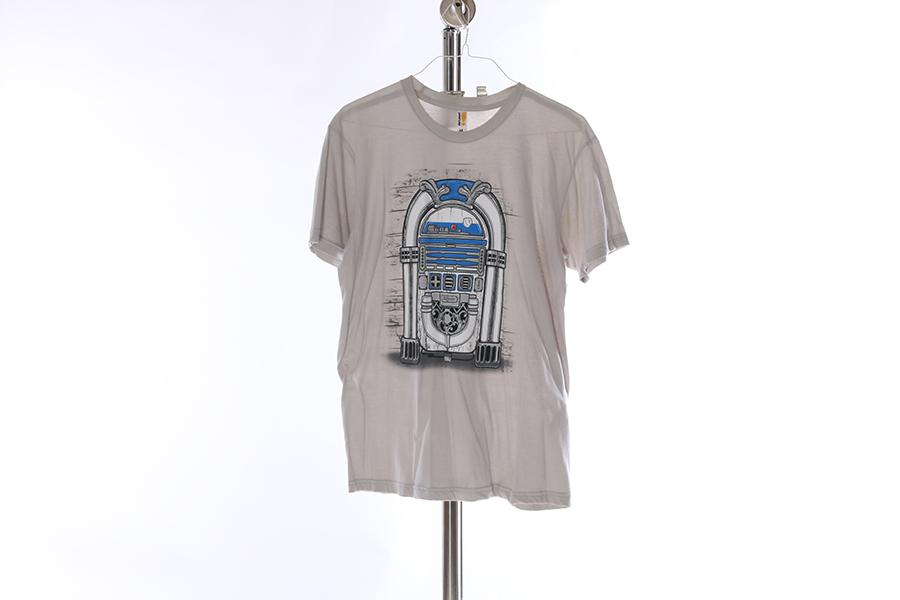Light Gray R2D2 Juke Box Star Wars T-Shirt Image