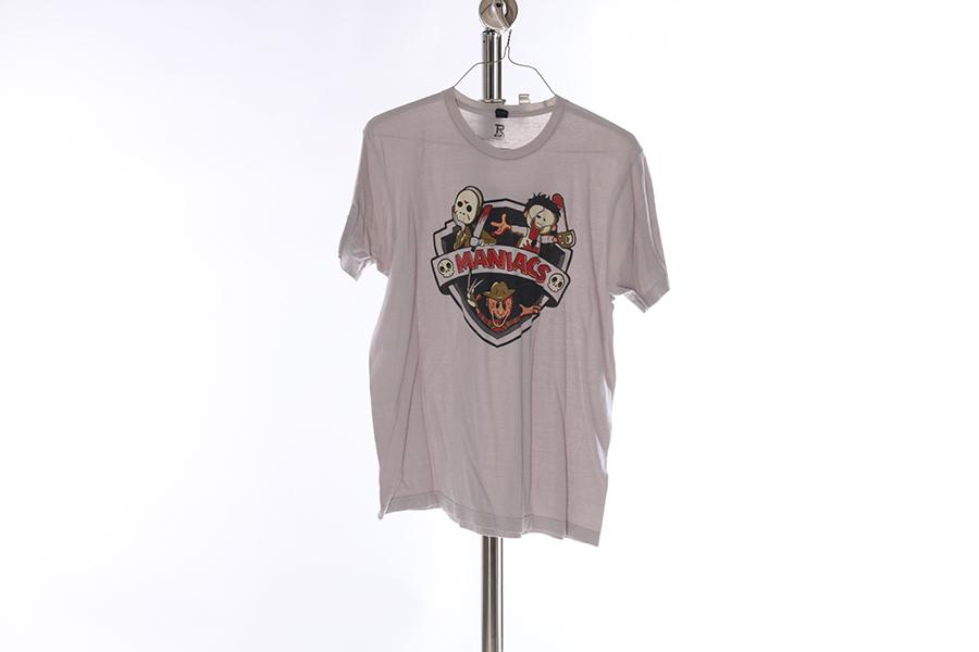 Light Gray Maniacs T-Shirt Image