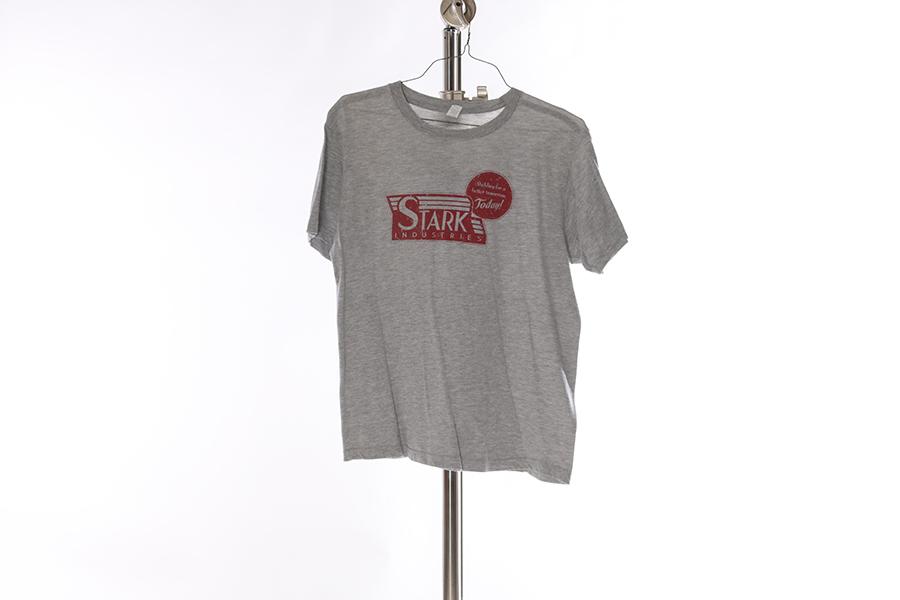 Heather Gray Stark Industries T-Shirt Image